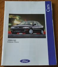 FORD CARS Edition 3 1992 1993 XR2i Escort XR3i Cabriolet Sierra XR4x4 Brochure
