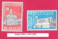 Année 1990,  2 Timbres poste Europa. Bureau de poste. N° 2367-2368