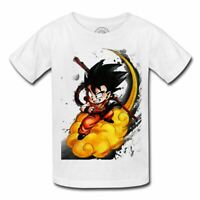 T-shirt enfant goku nuage magique kinto dragon ball z manga