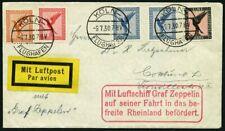 ZEPPELINPOST 1930, Fahrt in das befreite Rheinland, Tagesstempel Köln, Abwurf