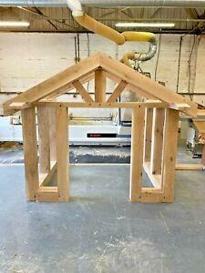 Solid Oak Porch / Wooden porch - Oak Canopy, Entrance, Self build kit, Oak Porch