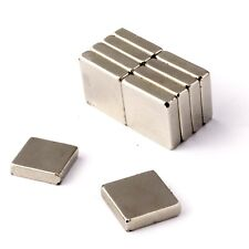 """6 of 1/2"""" sq. x 1/8"""" Strong Block Magnets * 3.1Kg PULL * Powerful Square Magnet"""