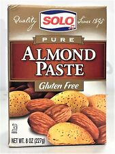 Solo Pure Almond Paste 8 oz