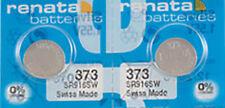 2 x Renata 373 Watch Batteries, 0% MERCURY equivalent SR916W, Swiss Made