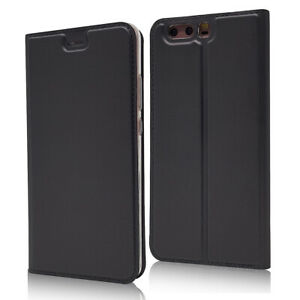 For Huawei P10 Plus Magnetic Leather Flip Wallet Phone Case Protector Cover New