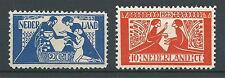 1923 Nederland Toorop NR.134-135  plakker, Luxe serie!