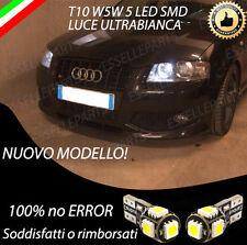 COPPIA LUCI POSIZIONE LED PER AUDI A3 8P 8PA SPORTBACK T10 W5W CANBUS NO ERROR
