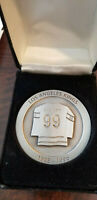 2002 WAYNE GRETZKY # 99 JERSEY RETIREMENT COIN FROM VIP DINNER 10/9/02 KINGS