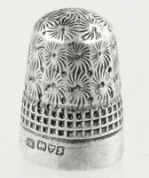 Antique Sterling Silver Thimble Charles Horner 1907 Size 7