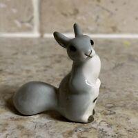 Lomonosov Gray Squirrel Figurine Hand Painted Porcelain USSR Russia