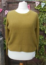 BNWT'S 'XOXO' Thick Rib, Scoop Bottom Jumper - Olive Colour - Size: 14