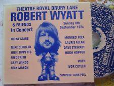 Robert Wyatt & Friends Theatre Royal Drury Lane 8th Sept Stickered UK CD Album