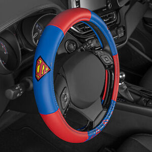 Superhero Superman Soft Leather Steering Wheel Cover Official DC Comics