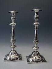 PAAR SILBER KERZEN LEUCHTER SILVER CANDLESTICKS RUSSLAND ZHITOMIR RUSSIA UM 1875