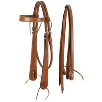 Tough-1 Royal King Ranch Boss Browband Headstall with Stitched Reins
