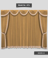 Saaria HT-1 Home Theater Event Stage Movie Hall Decor Curtains Drapes 10'W x 8'H