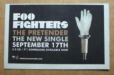 FOO FIGHTERS - THE PRETENDER - 2007 - ORIGINAL MUSIC ADVERT 25 x 16 cm