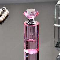 Vintage Pink Crystal Glass Cut Empty Perfume Bottles Stopper Wedding Gifts Decor