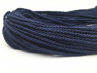 5/100 Meters 3mm Twisted Soutache Braided Rope/Cord Jewellery Craft Supplies
