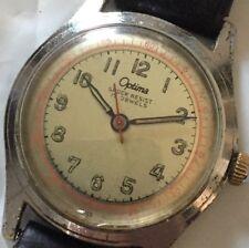 Vintage Optima Army  Watch 17J Working Mechanical Manual Hand Wind Watch