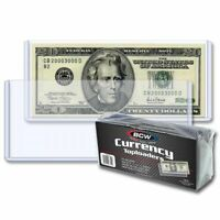 25 LARGE BILL CURRENCY TOPLOADERS, RIGID, HOLDS U.S. CURRENCY *FREE SHIPPING*
