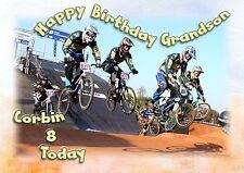 Personalised birthday card BMX trick bike son grandson brother nephew boy vp