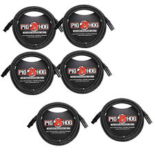 Pig Hog 8mm Mic Cable, 20ft XLR Tour Grade Microphone Cable - 6 PACK