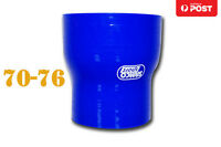 """Silicone Straight Reducer Coupler Joiner Hose Pipe 70mm-76mm 2.75""""- 3"""" Blue"""