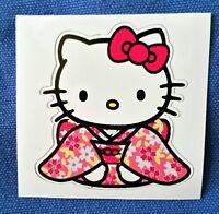 Pretty Hello Kitty in Kimono PVC Sticker Laptop Diary Luggage Pink 6 x 5.7 cm 3M