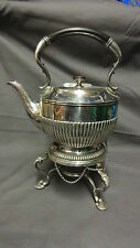 ANTIQUE SILVER PLATED SPIRIT KETTLE ON STAND - JAMES DIXON & SONS