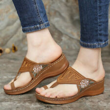 Women's Summer Comfy Shoes Open Toe Premium Orthopedic Low Heels Walking Sandals