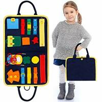 Busy Board Montessori Toys for Toddlers , Foldable Sensory Toys Autism Toys Bag