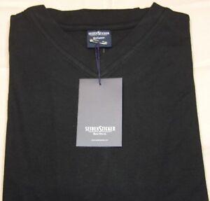 4 SEIDENSTICKER T-Shirt V-neck schwarz 1/2-Arm (M) - ZB - #210301