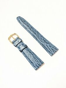 Mens Vintage New Old Stock Shark Blue Grain Calf Leather Watch Strap - 20mm