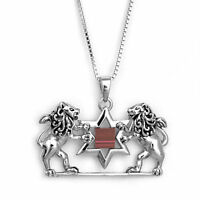 Pendant Lion of Judah Nano Sim Old Jewish Bible Tanakh Sterling Silver Necklace