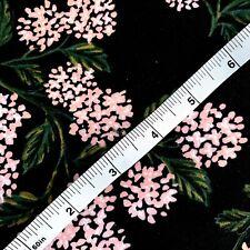 RIFLE PAPER CO. Cotton + Steel Fabric - HYDRANGEA KNIT, HUNTER (Pink) - 1 Yard