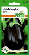 Mini-Aubergine Ophelia F1-Hybride auch für Balkon & Terrasse - Eierfrucht Samen