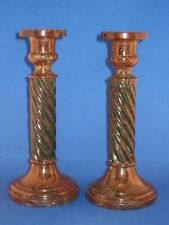 More details for cornish serpentine pair of  candle sticks.