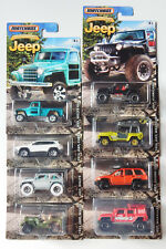 Matchbox 2016 JEEP ANNIVERSARY EDITION Complete Set OF 8 Vehicles FREE SHIPPING!