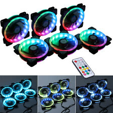 6PCS RGB Adjustable LED Controller Remote Control Cooling Chassis Fan