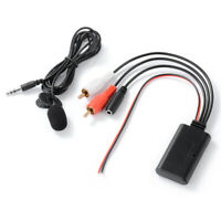 Car 2RCA Bluetooth Wireless Connection Adapter AUX Music + Microphone MA2249
