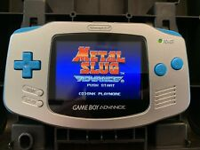 Game Boy Advance with IPS v2 Backlight and Glass Screen (Silver With Blue)