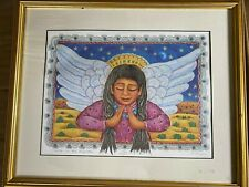 """Diana Bryer """"Suena Con Tus Angelitos"""" - Lthograph 206/600 - Signed And Framed"""