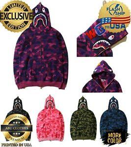Hot Camouflage A Bathing Ape BAPE Coat Full Zipper Jacket Hoodies S-5XL