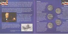 USA  State Quarter Set  2007 - 5 Münzen  im Folder
