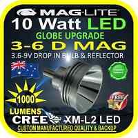 MAGLITE UPGRADE LED 3-6 D CREE 10W BULB GLOBE for TORCH FLASHLIGHT 3.6-9V 1000lm