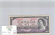 BILLET CANADA - 10 DOLLARS 1954 - BEATTIE COYNE