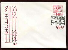 Estonia 1992, 1k + 50s Olympic Games FDC #C11931