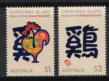 Christmas Is. - Year of Rooster MNH Pair