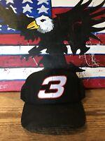 NOS Vintage Dale Earnhardt Number 3 Snapback Hat Cap 90s NASCAR Free shipping!